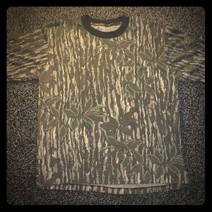Vintage Camouflage all over print t shirt